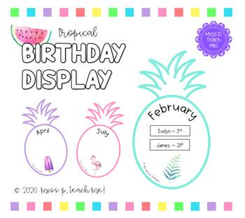 Tropical Birthday Display