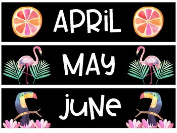 Tropical Birthday Months