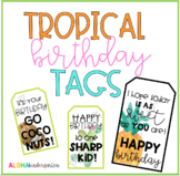 Tropical Birthday Tags: 8 Different Options!