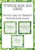Tropical Book Box Labels EDITABLE