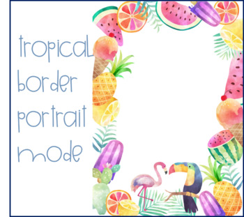 Tropical Border Portrait