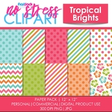 Tropical Brights Digital Papers