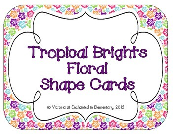 Tropical Brights Floral Shape Cards