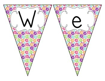 Tropical Brights Floral Welcome Pennant