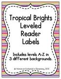 Tropical Brights Leveled Reader Labels