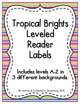 Tropical Brights Leveled Reader Labels