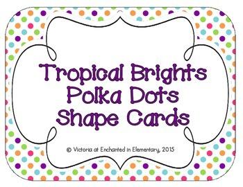 Tropical Brights Polka Dot Shape Cards