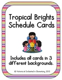 Tropical Brights Schedule Cards