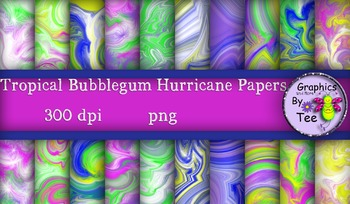 Tropical Bubblegum Hurricane Papers