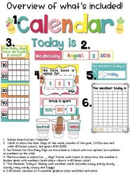 Tropical Calendar Extras {ten frames, weather and more}