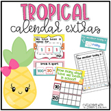 Tropical Calendar Extras {ten frames, weather and more}