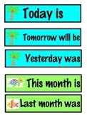 Tropical Calendar Headings
