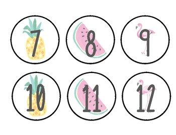 Tropical Calendar Set