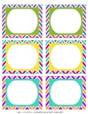 Tropical - Chevron Bin Labels - Editable
