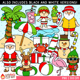Tropical Christmas Clip Art
