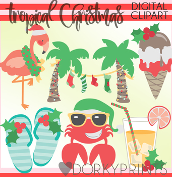 Tropical Christmas Clipart