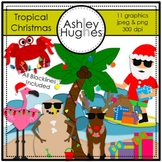 Tropical Christmas Clipart {A Hughes Design}