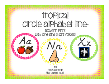 Tropical Circle Alphabet Line--Modern Handwriting