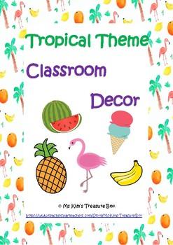 Tropical Class Decor - Back To School