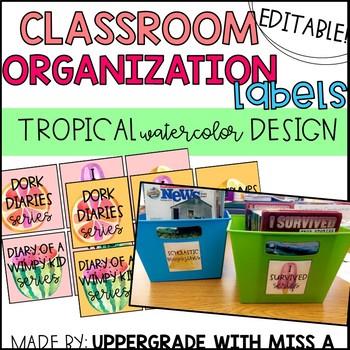 Tropical Class Organization Labels-EDITABLE