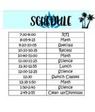 Tropical Class Schedule (EDITABLE)