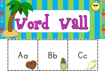 Classroom Decor Pack: Tropical Theme