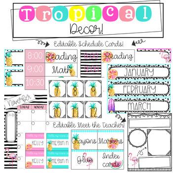 Tropical Classroom Decor!