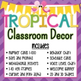 Tropical Flamingo and Pineapple Classroom Decor