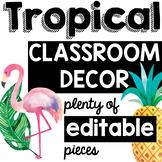 Tropical Classroom Decor with EDITABLE options