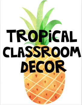 Tropical Classroom Decor GROWING BUNDLE