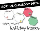 Tropical Classroom Decor: Birthday Banner