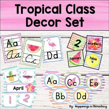 Tropical Classroom Decor Bundle