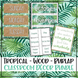 Tropical - Wood - Burlap Decor Bundle