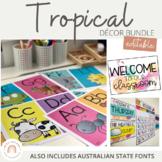 Tropical Classroom Decor Bundle | Editable