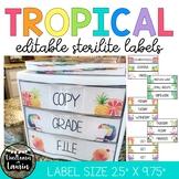Tropical Classroom Decor - Editable Sterilite Drawer Labels