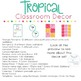 #hellosummer Tropical Classroom Decor | Fully Editable