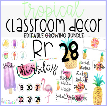 Tropical Classroom Decor