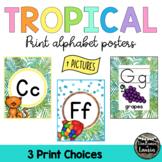 Tropical Classroom Decor PRINT Alphabet Posters (PICTURES)