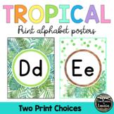 Tropical Classroom Decor PRINT Alphabet Posters