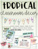 EDITABLE Tropical Classroom Decor Set