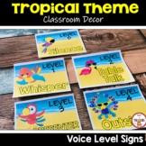 Tropical Classroom Decor Voice Level Charts