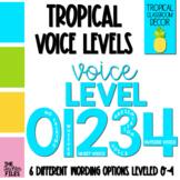 Tropical Theme Classroom Decor: Voice Level Posters