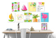 Tropical Classroom Growth Mindset Art Prints, Classroom Posters