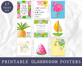 Tropical Classroom Growth Mindset Art Prints, Classroom Posters