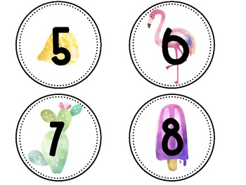 Tropical Classroom Numbers