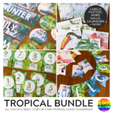 TROPICAL Classroom Decor - The GROWING BUNDLE