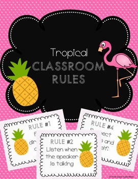 Tropical Classroom Rules