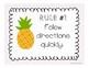 Tropical Classroom Rules