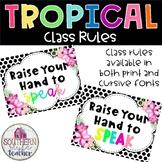 Tropical Classroom Theme Editable Class Rules