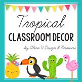 Tropical Classroom Decor BUNDLE, Pineapple Theme, Library Labels, Classroom Jobs